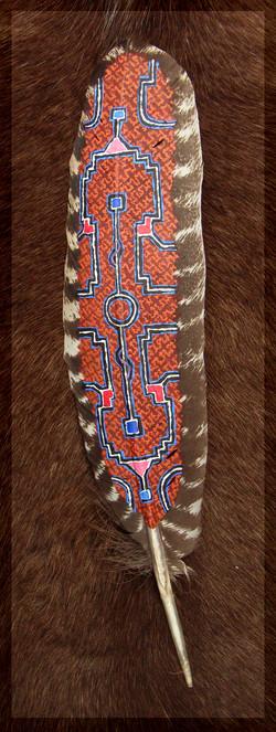Beschilderde Veer - Shipibo patroon