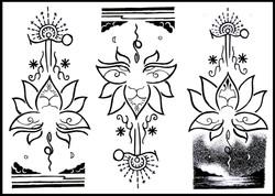 Lotus Born design #3 #4 #5