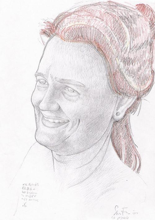Portret Gaia - voorstudie