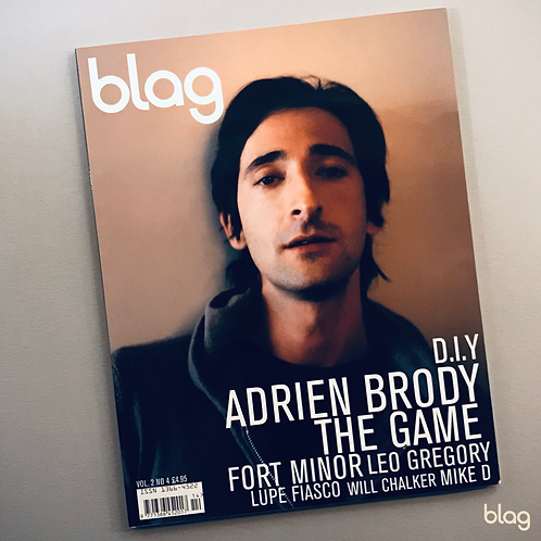 Adrien Brody BLAG magazine cover photography Sarah J. Edwards Art Direction Sally A Edwards