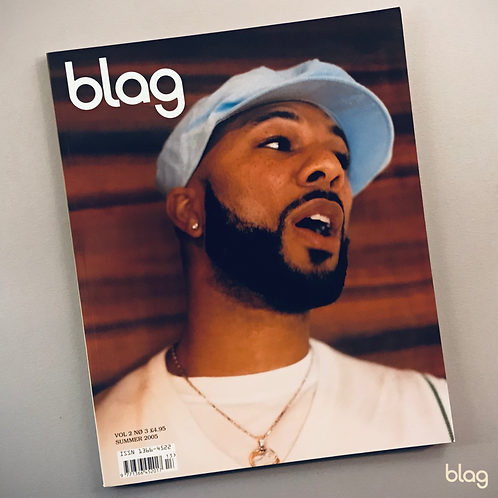 Common singing cap, chain, BLAG magazine cover photography Sarah J. Edwards Art Direction Sally A Edwards
