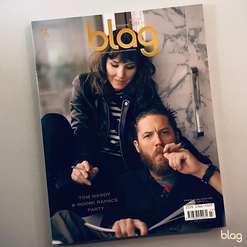 Tom Hardy & Noomi Rapace BLAG magazine cover photography Sarah J. Edwards Art Direction Sally A Edwards