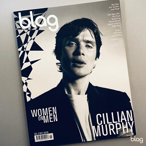 Cillian Murphy BLAG magazine cover photography Sarah J. Edwards Art Direction Sally A Edwards