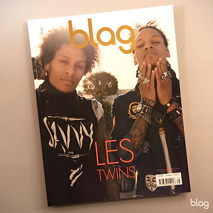 Les Twins BLAG magazine cover photography Sarah J. Edwards Art Direction Sally A Edwards Paris