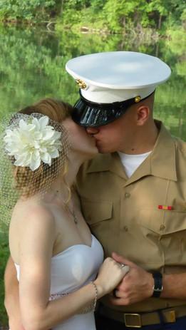 Military Couple Kiss