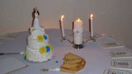 Cake Table and Unity Candle