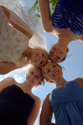 Smiling Bridal Party
