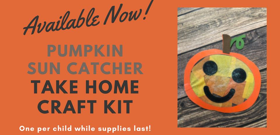 Pumpkin Sun Catcher Take Home Craft Scroller