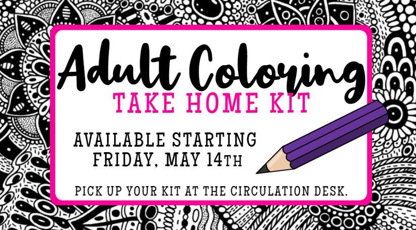Adult Coloring Take Home Kit