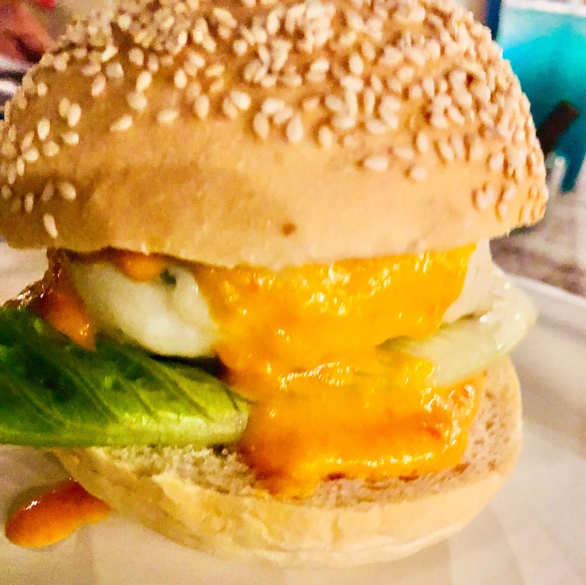 Hamburger di totano all'erba cipollina c