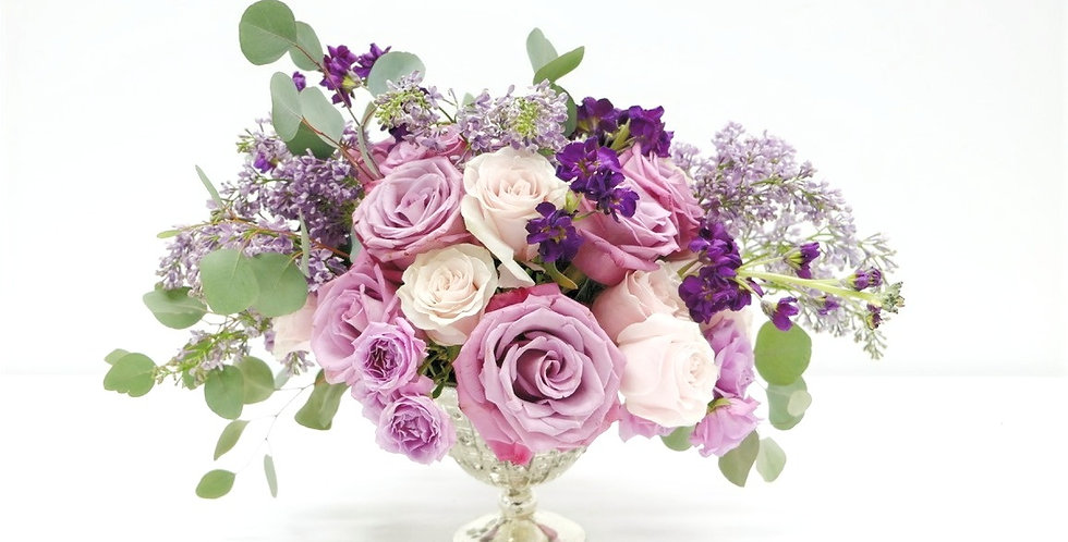 Lilac Dreams Centerpiece