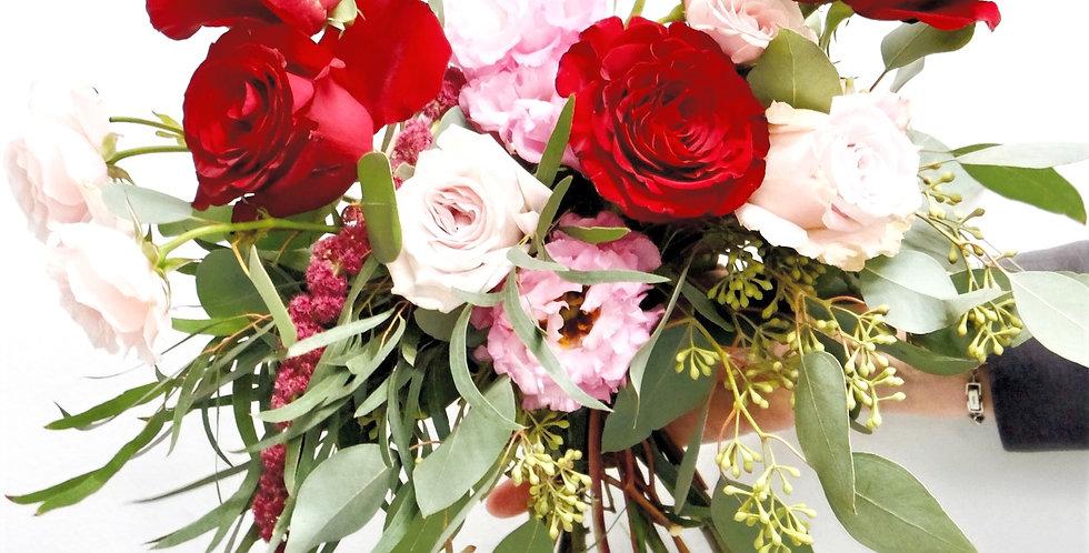 Burgundy & Pink Bridesmaid Bouquet