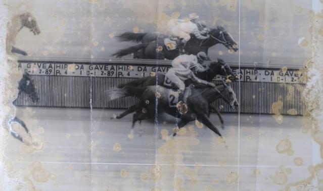 Photochart de uma das primeiras vitórias, assim que chegou ao Rio de Janeiro.
