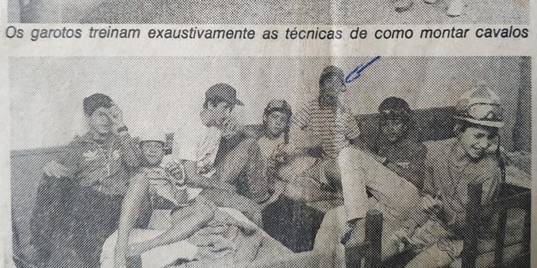 Treinamento na Escola de Jóqueis do Hipódromo da Gávea exigia rigidez militar.