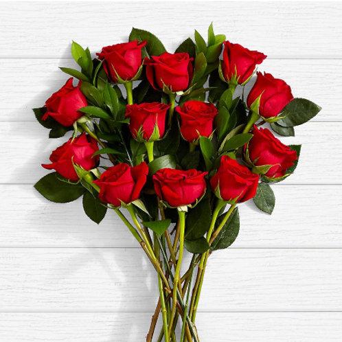 My Valentine Dozen  Red Rose Bouquet