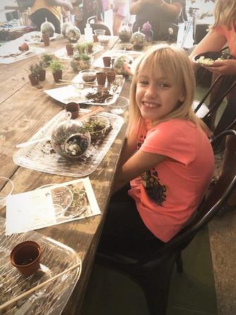 Kids terrarium workshop