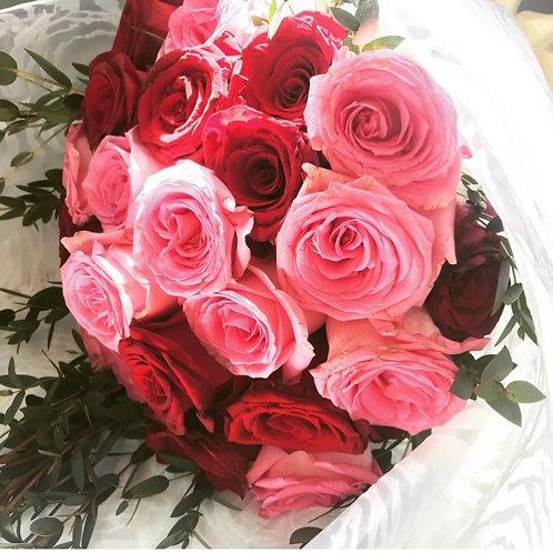 My Sweet Two-Tone Valentine's DOZEN  Roses
