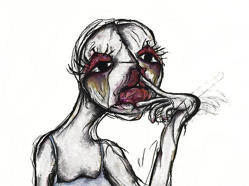 Hannah Layden, Untitled, charcoal