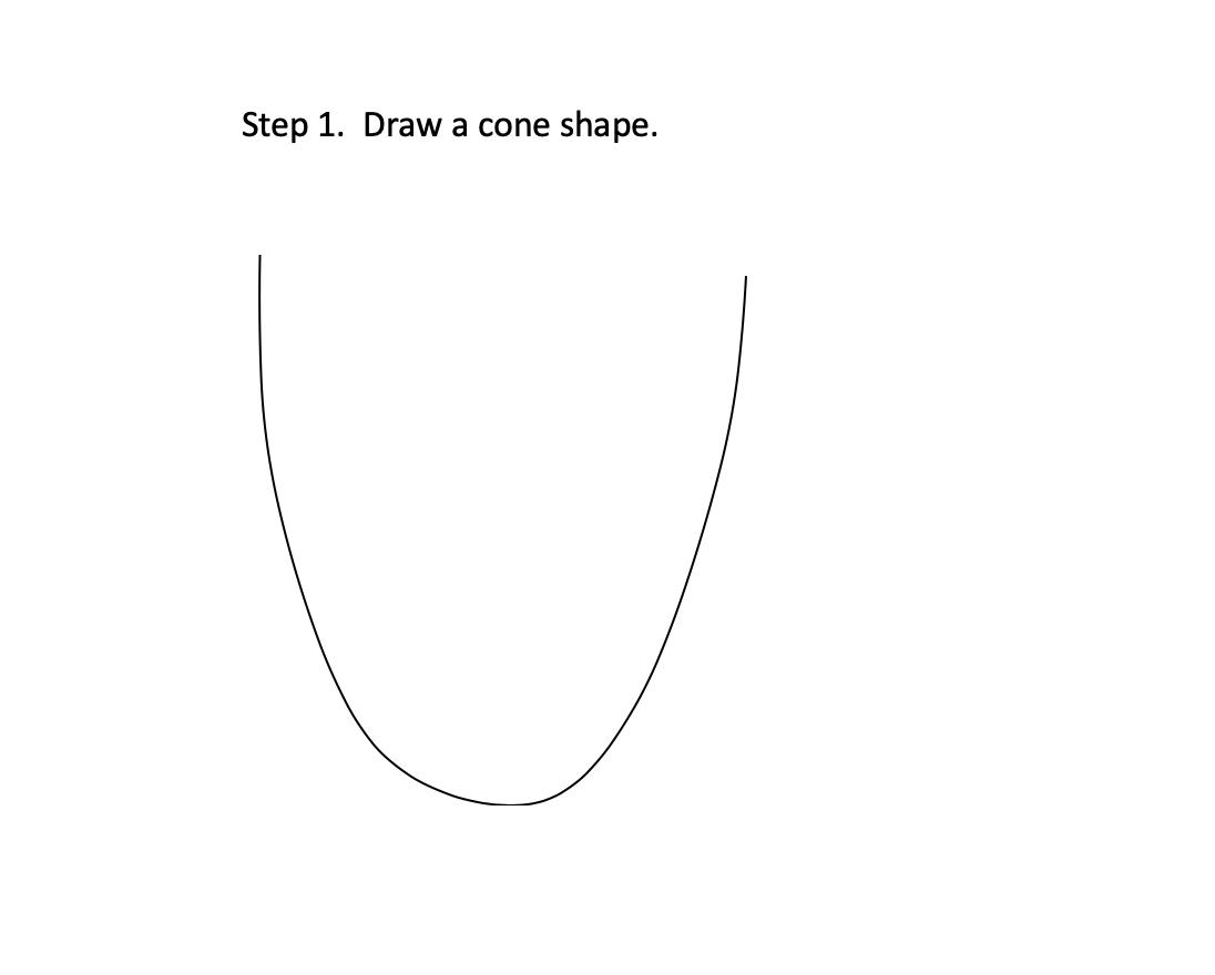STEP 1 - Draw a cone shape