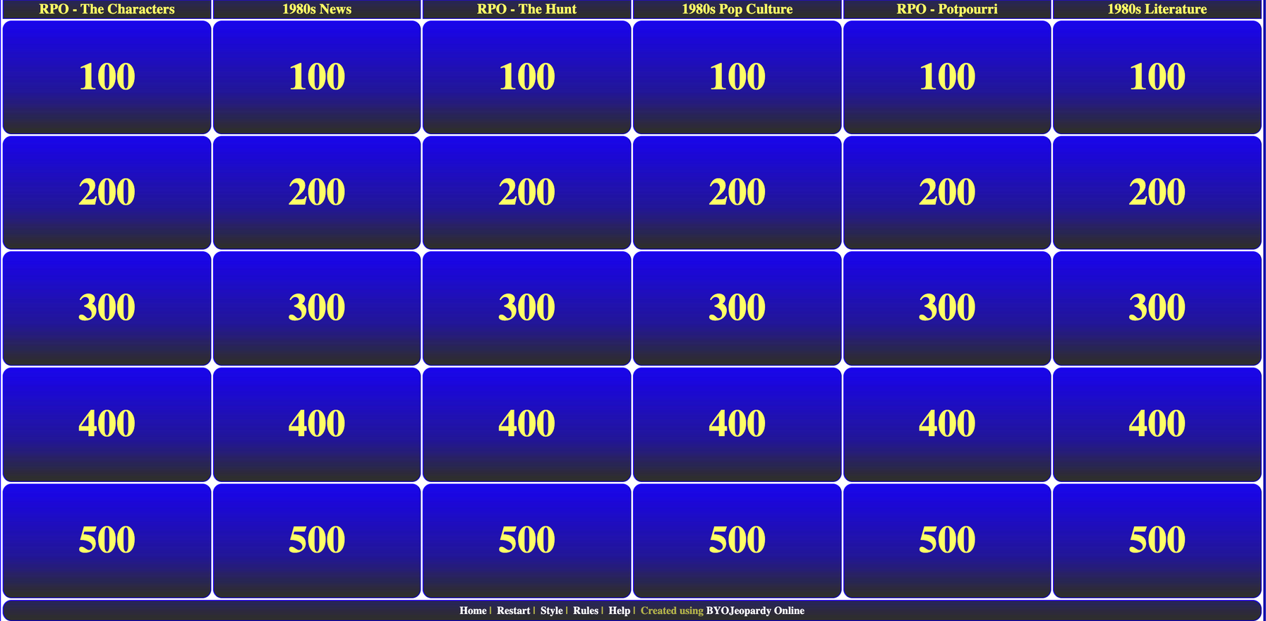 Get the whole family to play Jeopardy!