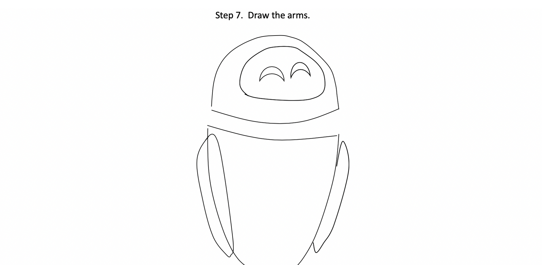 STEP 7 - Draw the arms