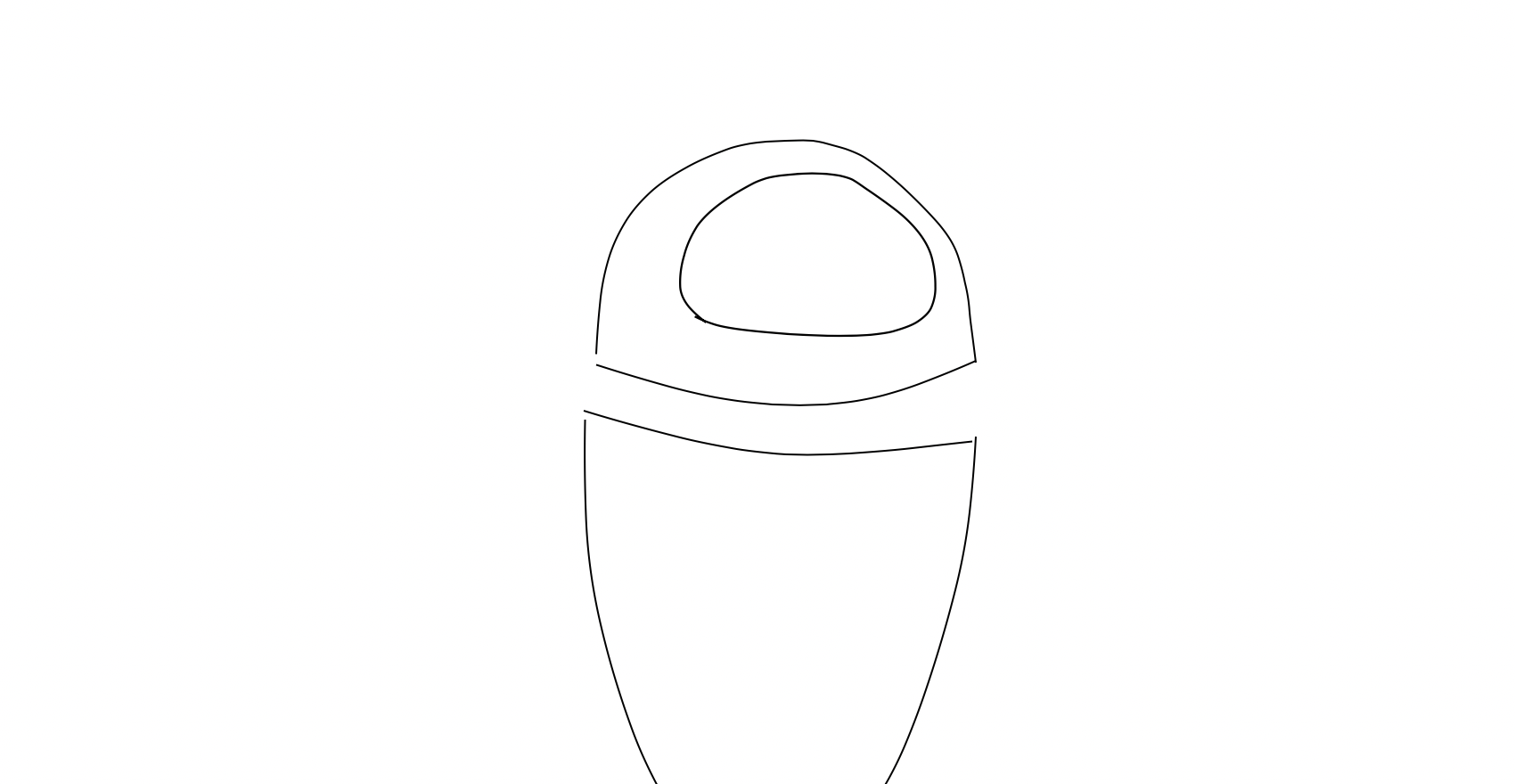 STEP 5 - Draw the face plate, flattening the bottom of the shape a little