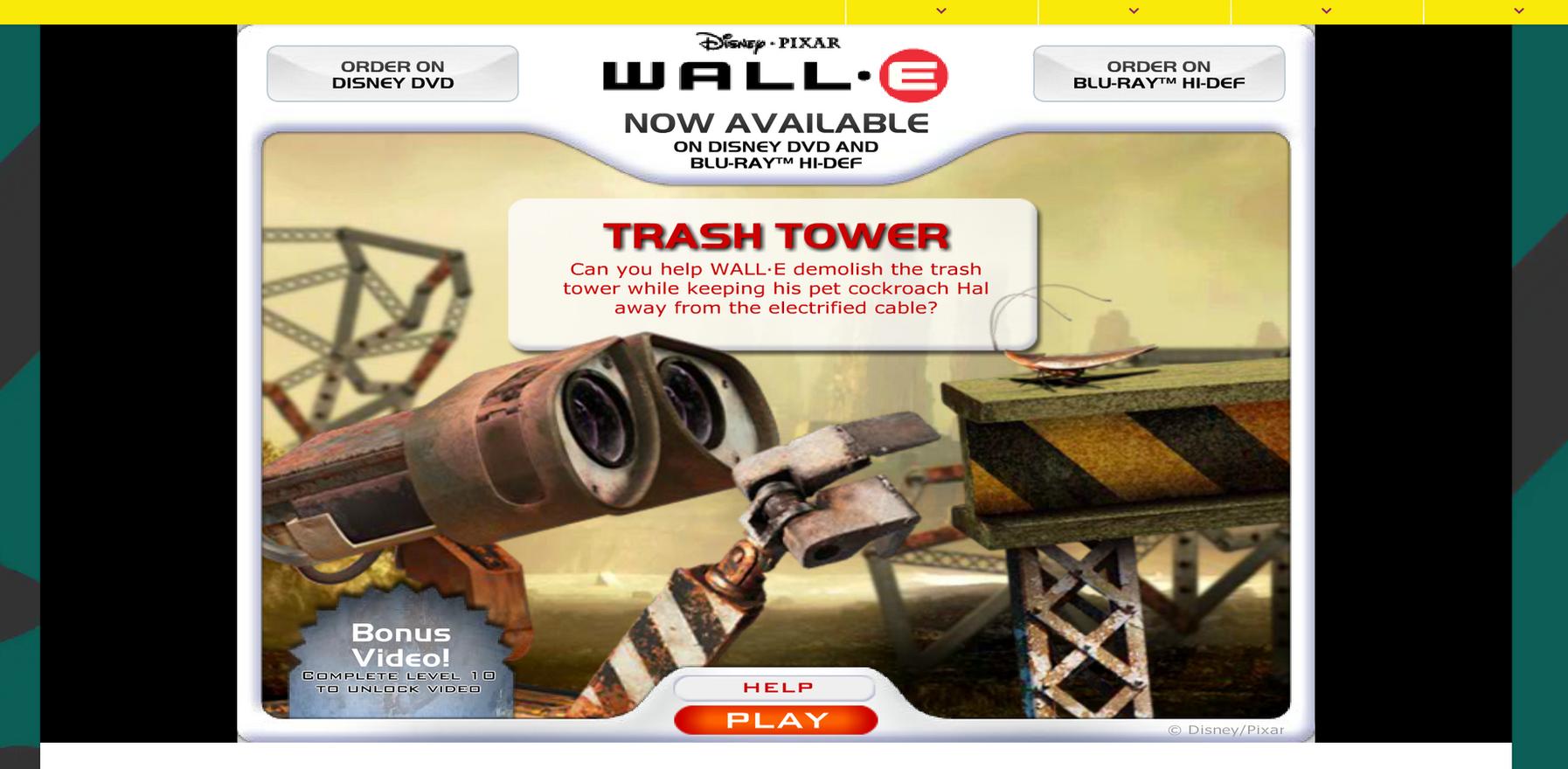 WALL-E Trash Tower Game