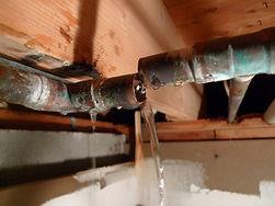 Broken Plumbing Pipe