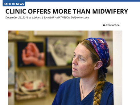 Clinic Offers More Than Midwifery - Daily Interlake