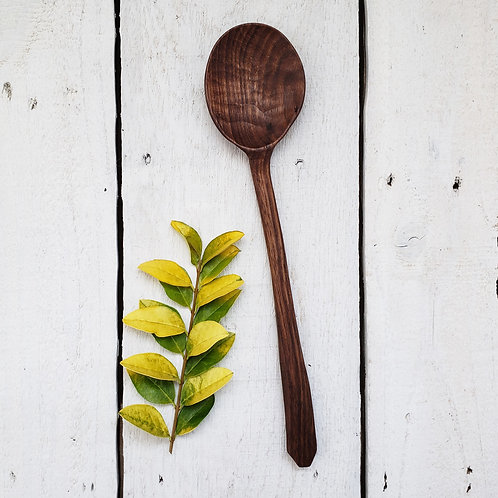 Walnut Handcarved Mixing/Serving Spoon
