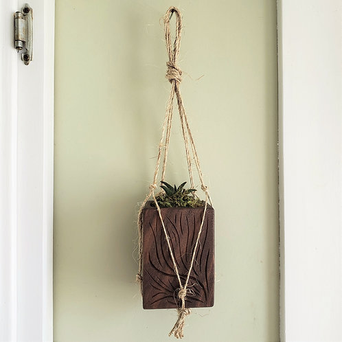 Hanging Succulent Planter, Walnut