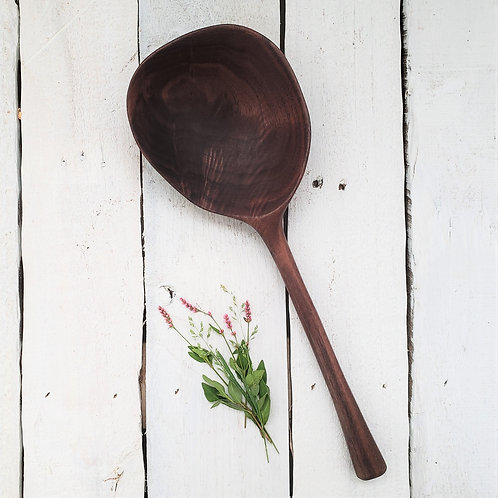 Wonky Curly Righty Walnut Ladle