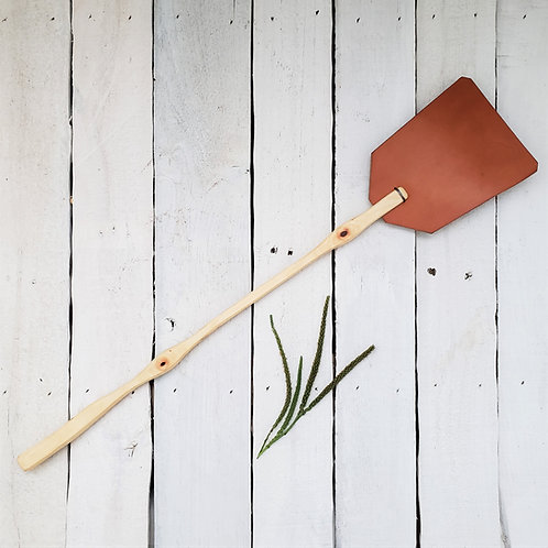 Flyswatter, Hickory with Tan Leather