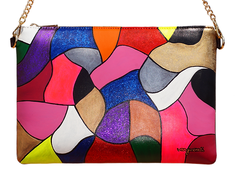 HAND PAINTED LEATHER BAG ·NUMBER 2·