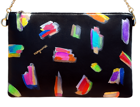 HAND PAINTED LEATHER BAG ·NUMBER 4·