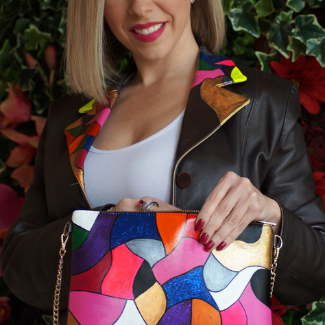Make a difference with a VANGUERATI HAND-PAINTED BAG