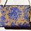 Thumbnail: ·VALENCIA CRYSTALS BLUE-GOLD· BOLSO DE MANO TELA DE FALLERA, SWAROVSKI Y CUERO