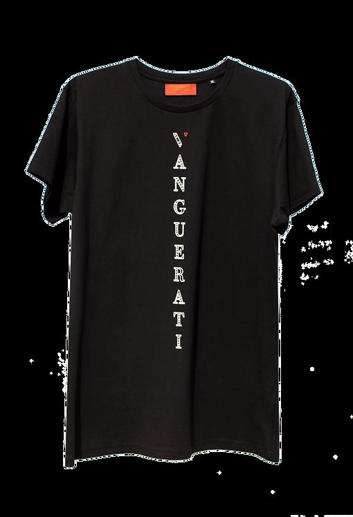 ·VERTICAL FRONT Black· ORGANIC T-SHIRT (SWAROVSKI OPTIONAL)