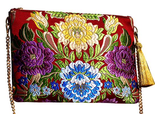 ·VALENCIA FLOWERS A· HANDBAG LEATHER AND FALLERA FABRIC