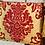 Thumbnail: ·VALENCIA CRYSTALS RED-GOLD· BOLSO DE MANO TELA DE FALLERA, SWAROVSKI Y CUERO