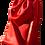 Thumbnail: TRIANGULAR 'V' BAG OF GRANULAR LEATHER ·BURGUNDY RED·