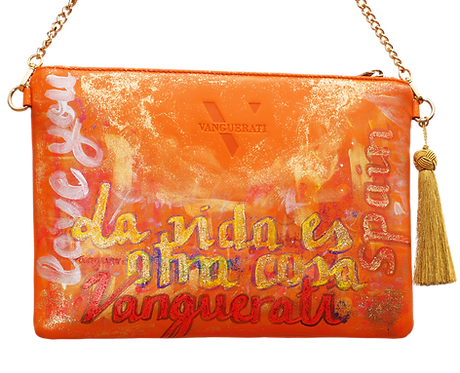 HAND PAINTED LEATHER BAG ·NUMBER 3·