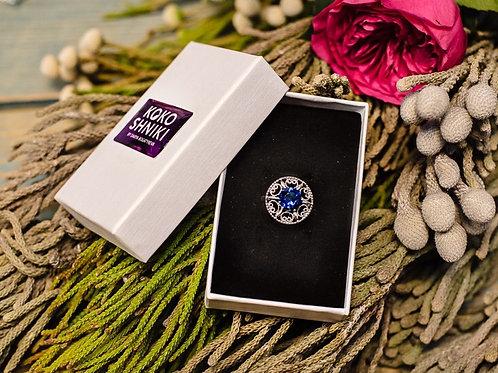 "Кольцо ""Silver lace"" Blue"