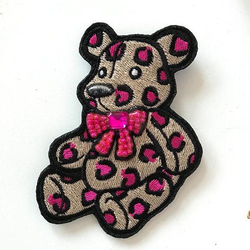 Мишка Тедди леопардовый фуксия