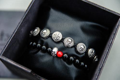 Комплект браслетов BRUTMAN (7 элементов, серебро 925)