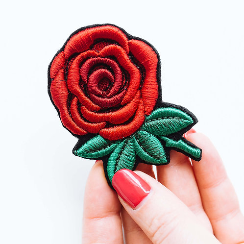 "Брошь вышитая ""Роза"""