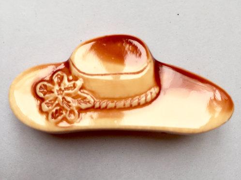 Винтажная брошь Шляпка (Европа) 1970-е