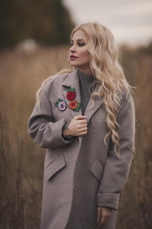 Брошь «Роза» с хрусталём (4 цвета)