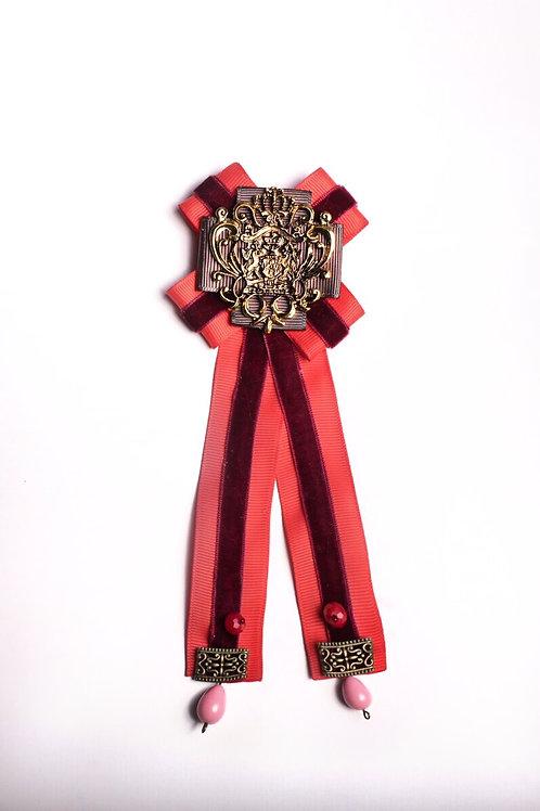 Орден-Брошь с красными лентами