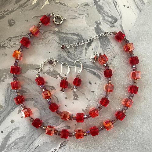 Комплект украшений Mario Rosetti в красно-коралловом цвете